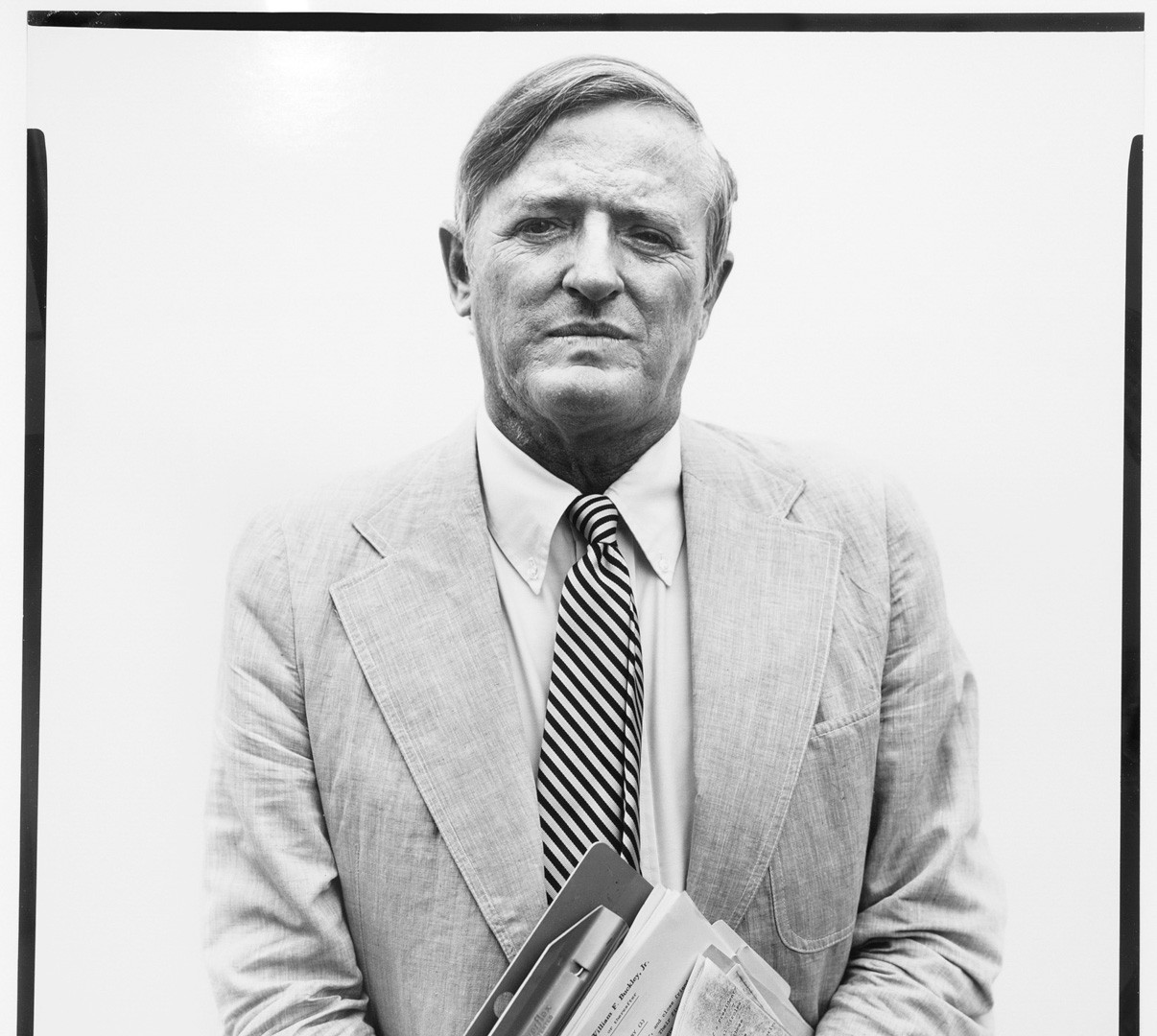 Richard Avedon, William F. Buckley, Jr., columnist, New York City, July 22, 1975