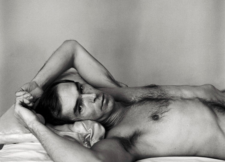 Peter Hujar, Self Portrait Lying Down, 1975