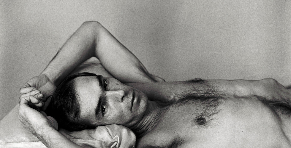 Peter Hujar, Self Portrait Lying Down, 1975
