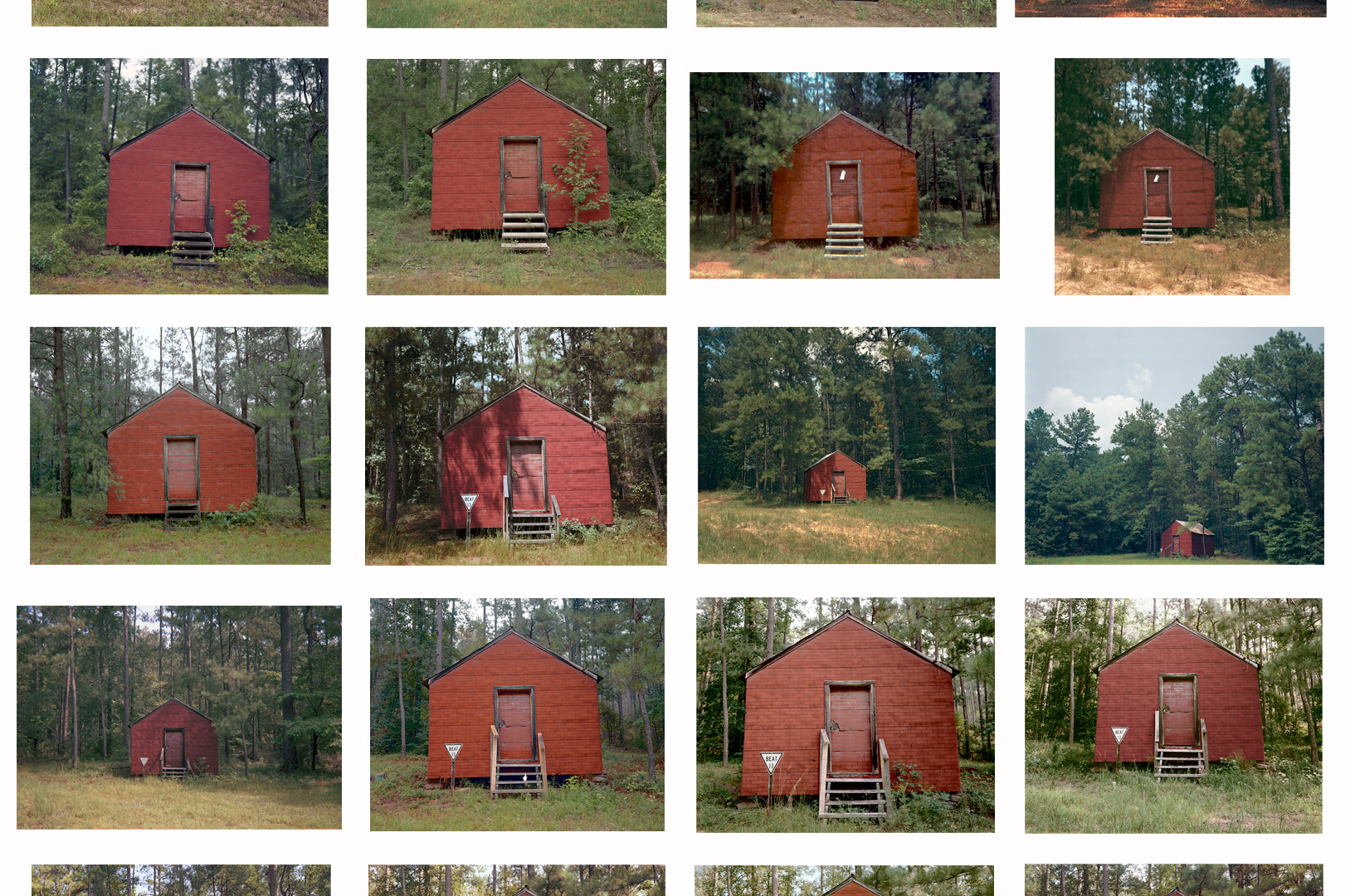 William Christenberry, Red Building in Forest, Hale County, Alabama, 1974-2004
