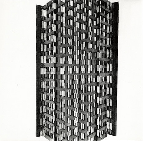 Harry Callahan, Skyscraper, Chicago, 1953