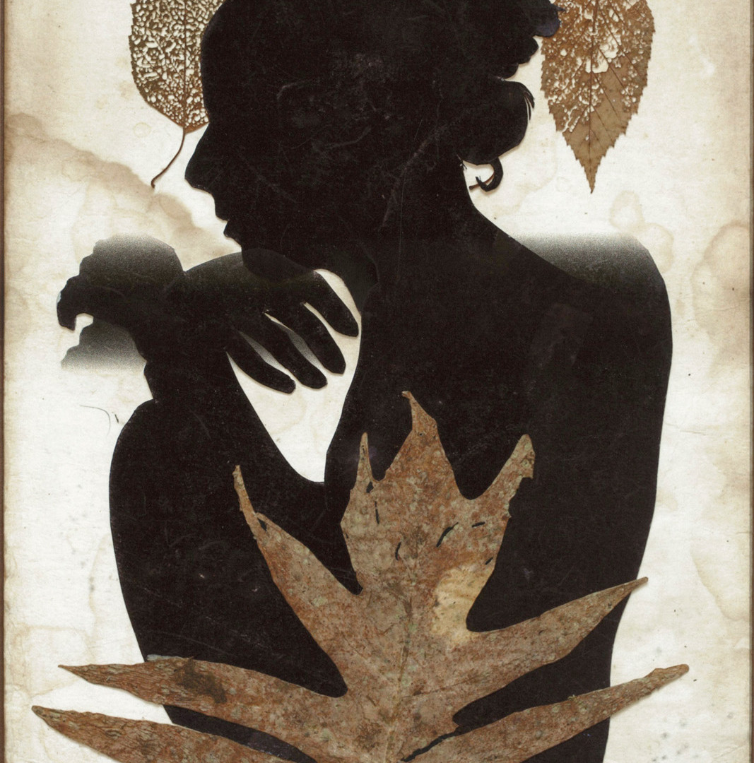 Emmet Gowin, Edith in Panama with Three Leaves, 2015
