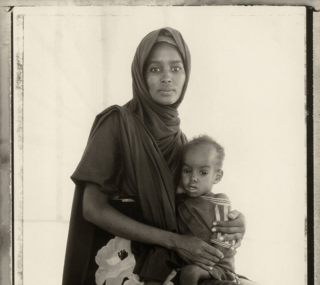 Fazal Sheikh, Fatuma Abdi Hussein and her son Abdullai, Somali Refugee Camp, 1993
