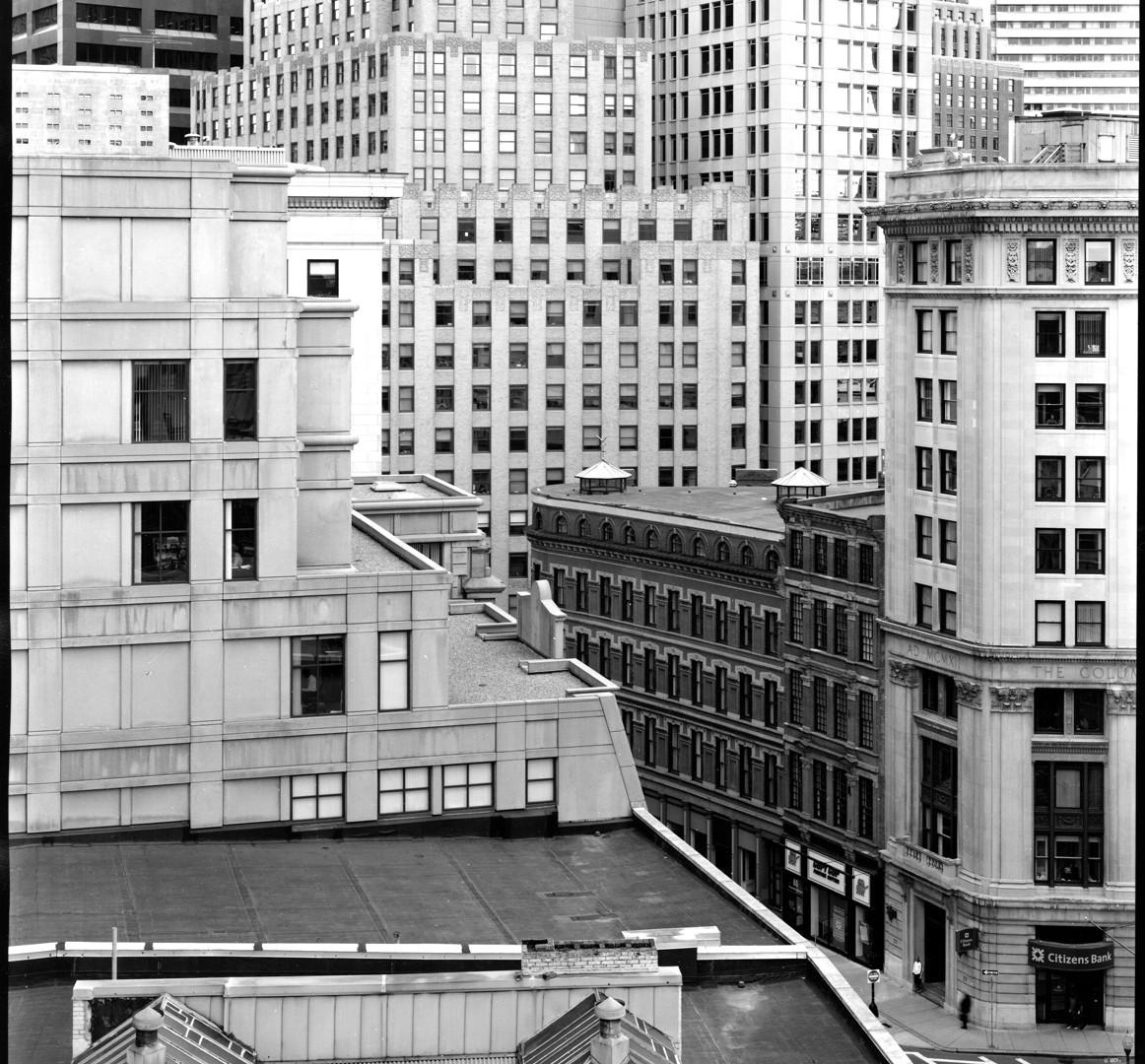 Nicholas Nixon, View toward Hawley Street, Boston, 2008