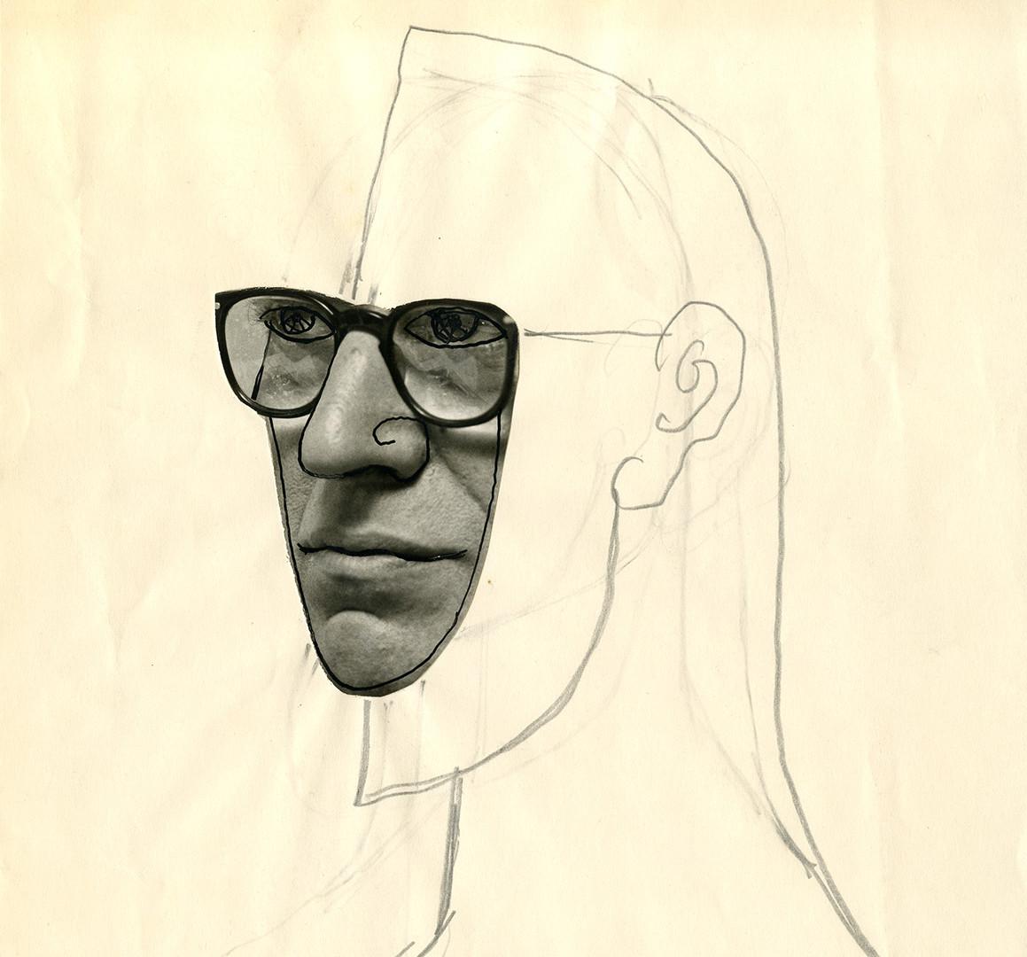 Saul Steinberg, Untitled (Self-Portrait), c. 1965