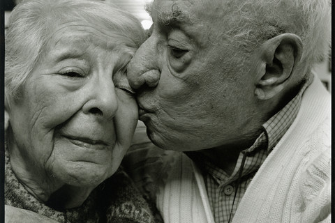 Nicholas Nixon, Salvatore (103) and Maria Savignelli (98), Methuen, Massachusetts, 2011
