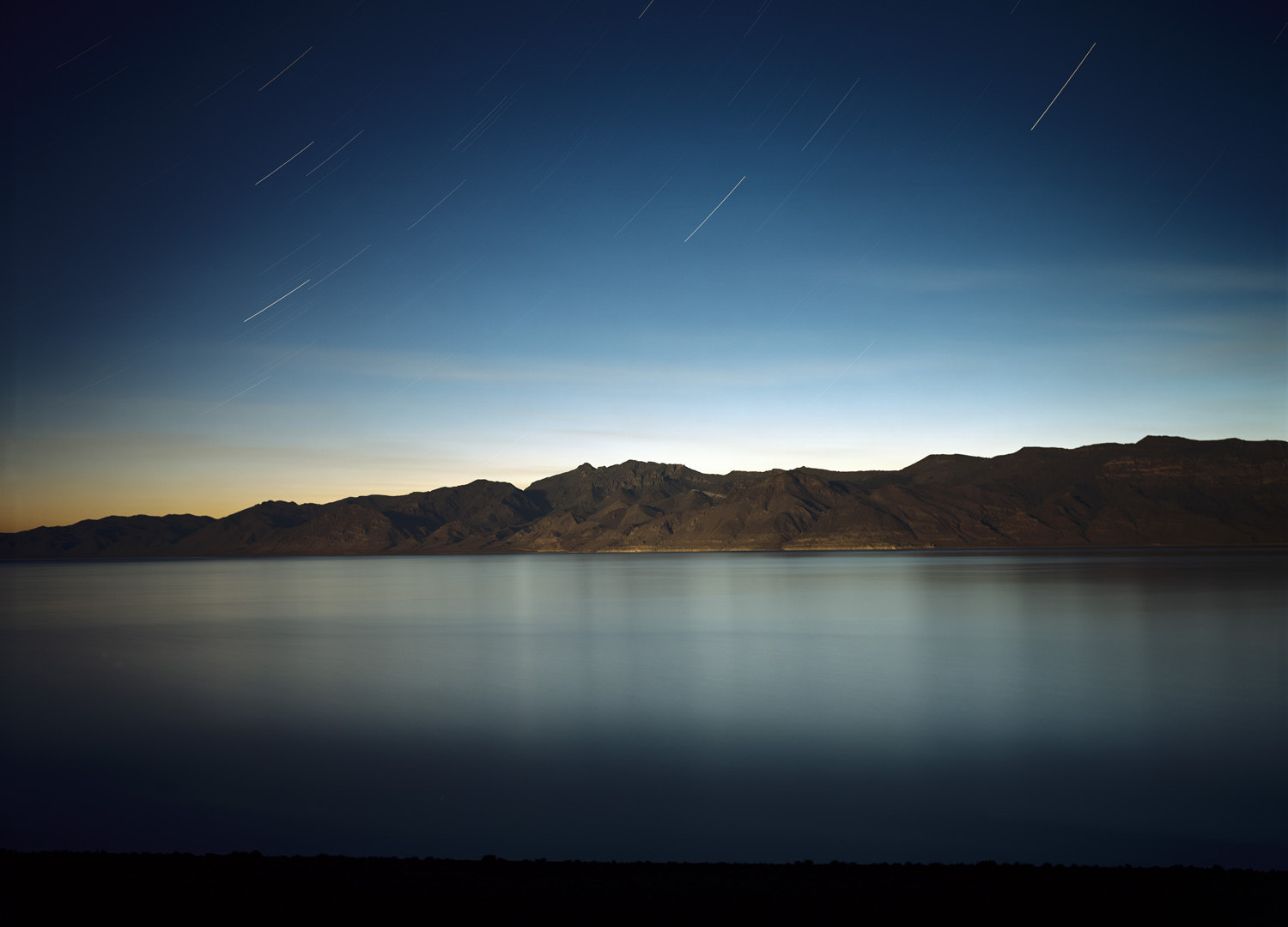 Richard Misrach, Pyramid Lake (At Night), 2004
