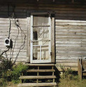 William Christenberry, White Door, near Moundville, Alabama, 1996