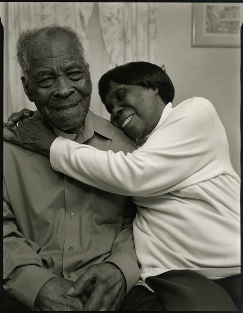 Nicholas Nixon, Burton Burtram (105), and his daughter Esther Corbin, Roxbury, 2011