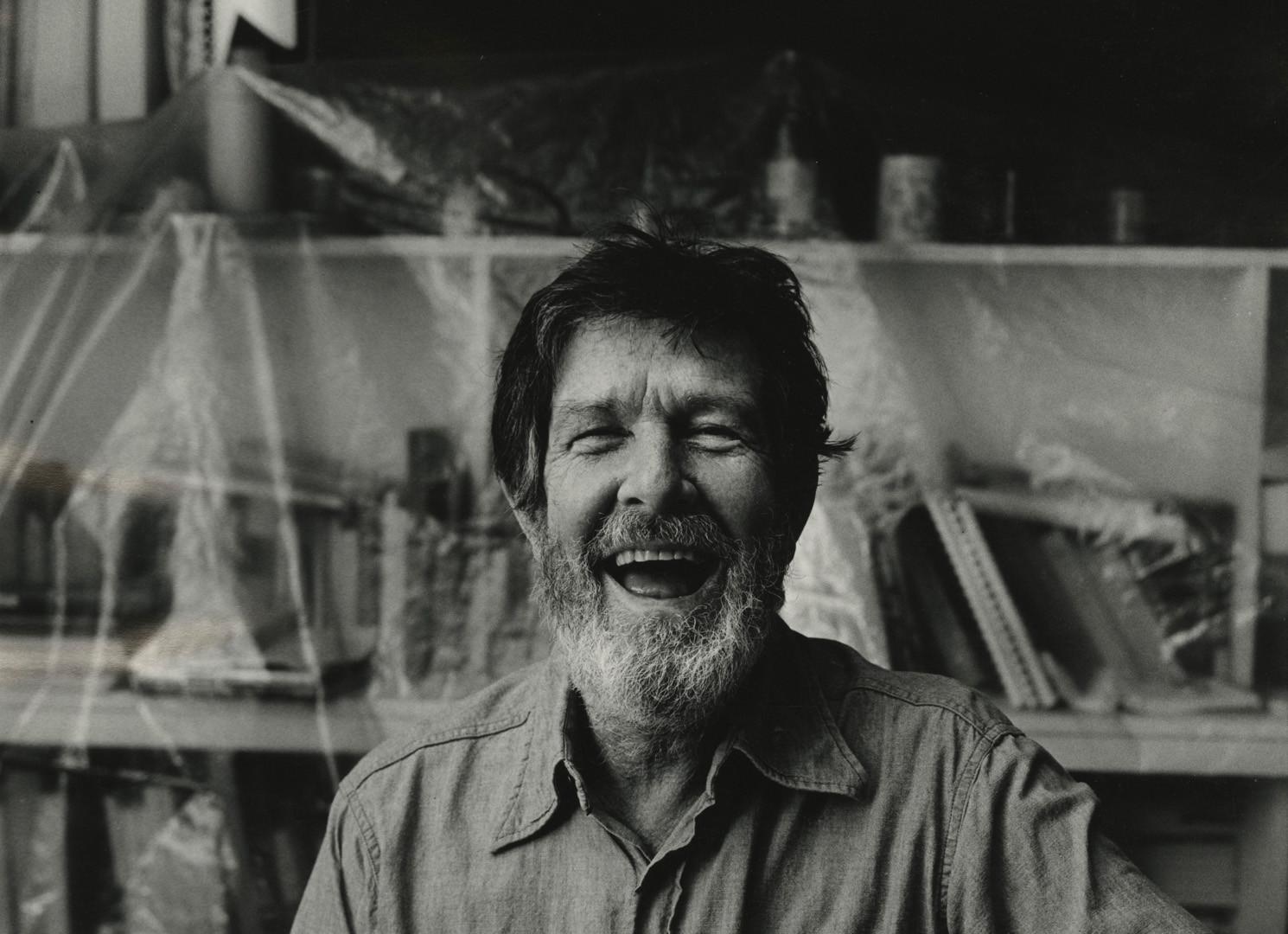 Peter Hujar, John Cage Laughing (I), 1974