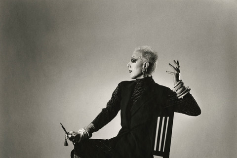 Peter Hujar, Ethyl Eichelberger in a Fashion Pose, 1981