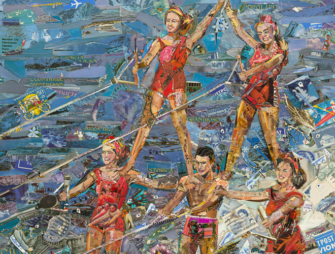 Vik Muniz, Waterskiing (Postcards from Nowhere), 2014