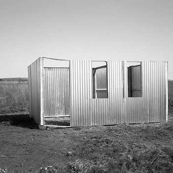 David Goldblatt, A new shack under construction, Lenasia Extension 9. Lenasia, Transvaal. , 5 May 1990