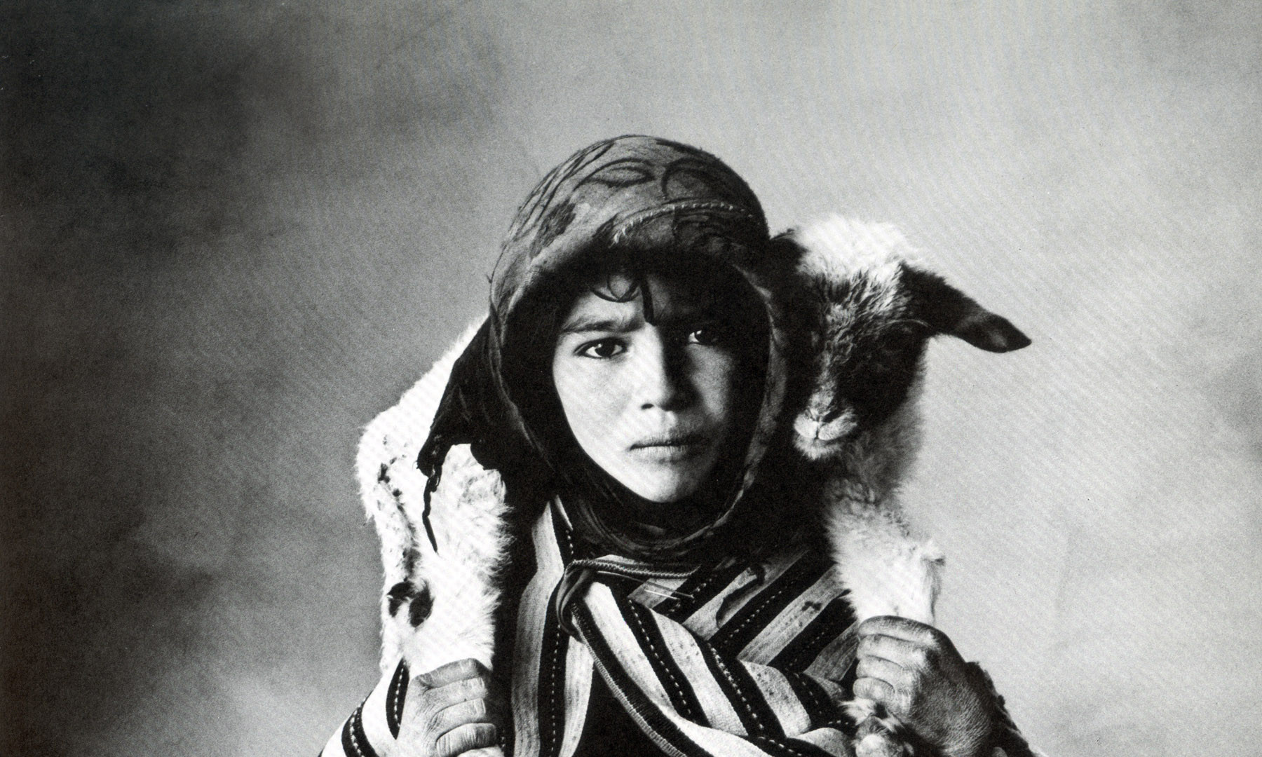 Irving Penn, Young Berber Shepherdess, Morocco, 1971