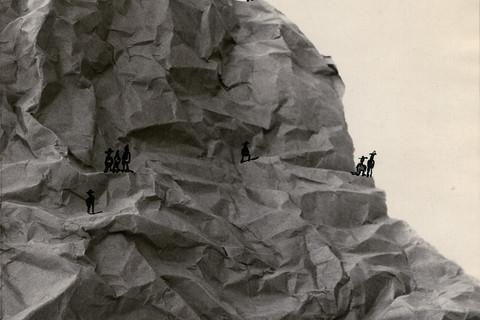 Saul Steinberg, Nine Figures in a Landscape, c. 1951