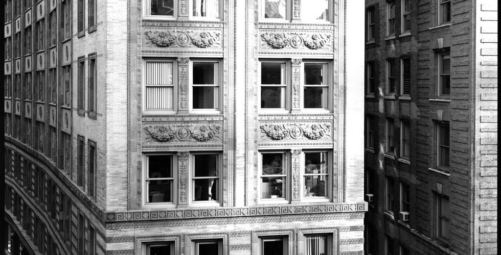 Nicholas Nixon, View of Tremont at Bromfield Street, Boston, 2008