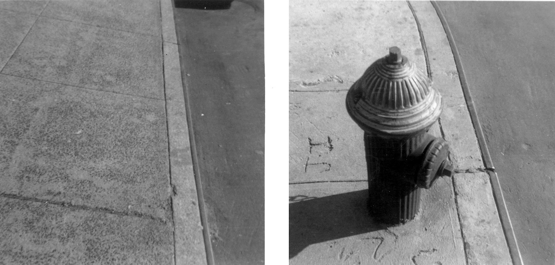 Vito Acconci, Walking the Line Piece, 1969