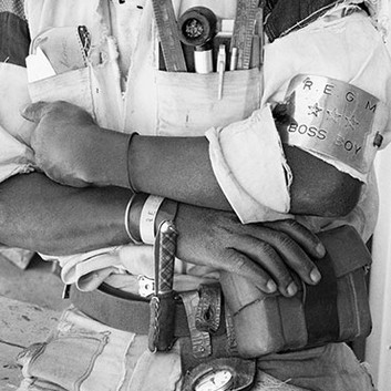 "David Goldblatt, ""Boss Boy,"" Battery Reef, Randfontein Estates Gold Mine. , 1966"