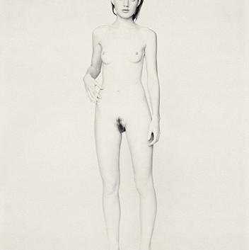 Paolo Roversi, White nude portrait of Guinevere IV, Paris, 1996