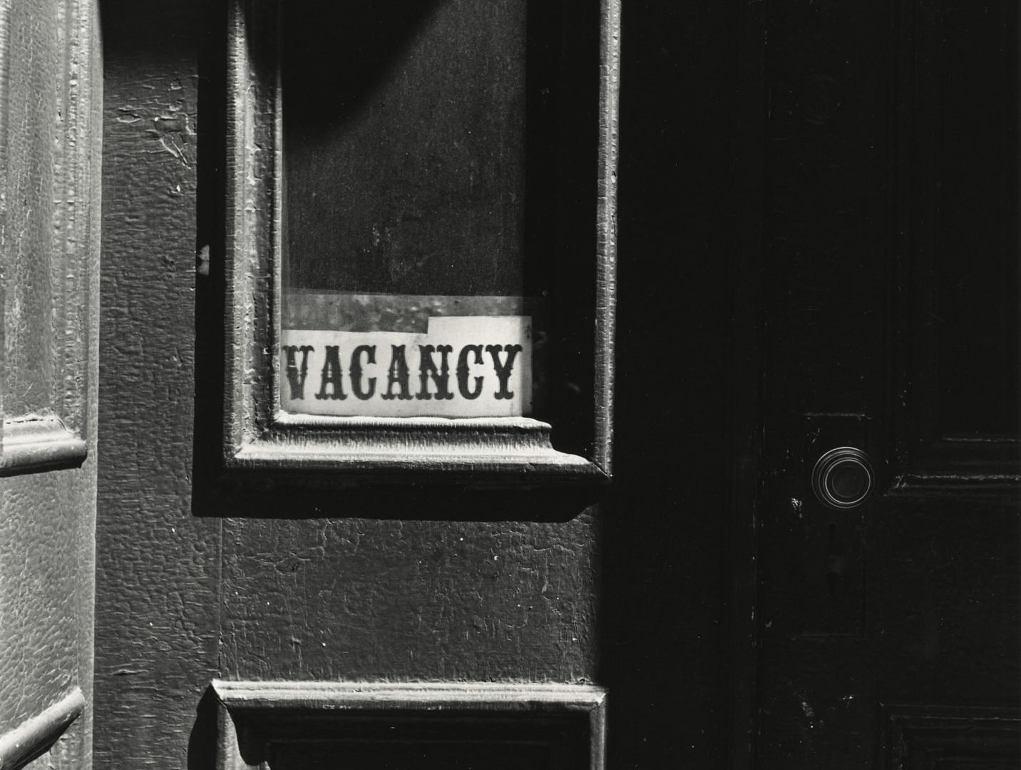 Irving Penn, Vacancy (with doorknob), New York, 1939