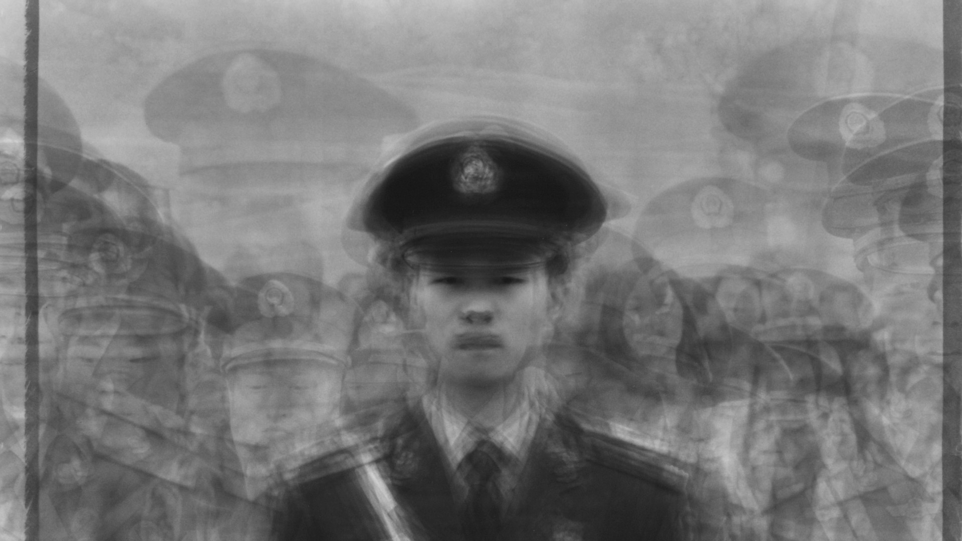 Ken Kitano, 24 army soldiers standing guard over Tian'anmen Square, May 2, 2009, Tian'anmen Square Beijing, China