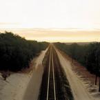 Richard Misrach, Train Tracks, Colorado Desert, California, 1984