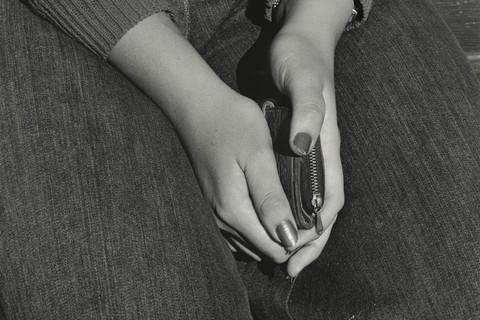 David Goldblatt, Girl with Purse, Joubert Park, Johannesburg, 1975