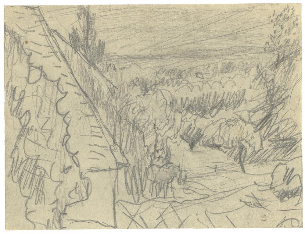 Pierre Bonnard, Paysage avec cheval, n.d.