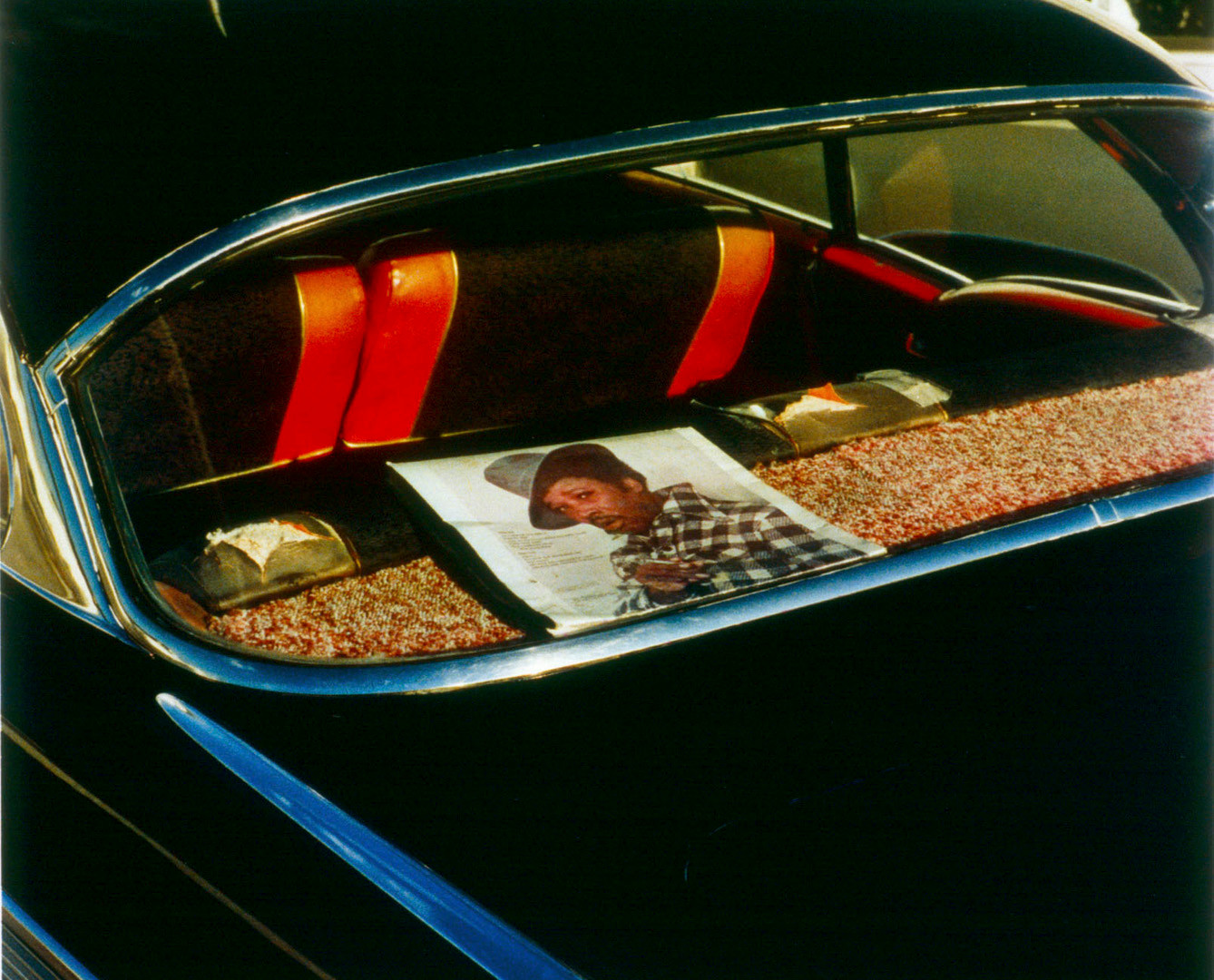 William Eggleston, Untitled (Record Album in Rear Window) Memphis, TN [From Dust Bells 2], c. 1971-74