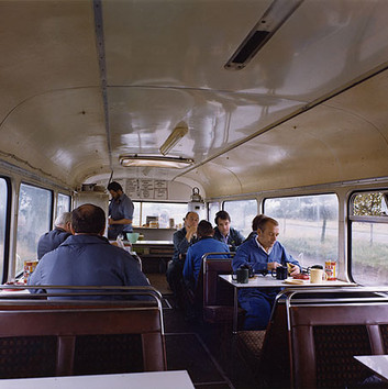 Paul Graham, Bus Converted to Cafe, Lay-By, West Yorkshire, November, 1982