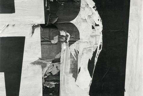 Harry Callahan, Torn Sign, 1946