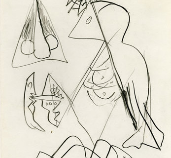 Jackson Pollock, Untitled, c. 1944