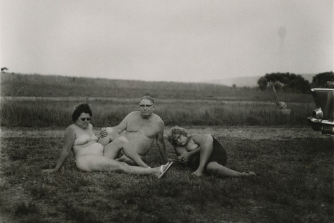 Diane Arbus, A family one evening in a nudist camp, Pennsylvania, 1965