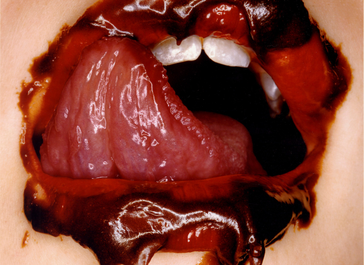 Irving Penn, Chocolate Mouth, New York, 2000
