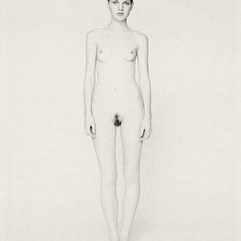 Paolo Roversi, White nude portrait of Guinevere III, Paris, 1996