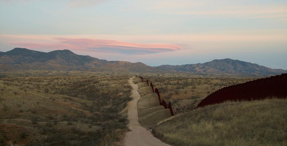 Richard Misrach, Wall, East of Nogales, 2015