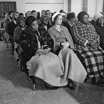 David Goldblatt, Members of the Methodist Church on the East Rand meet to find ways of reducing the racial, cultural and class barriers which divide them. , 1980