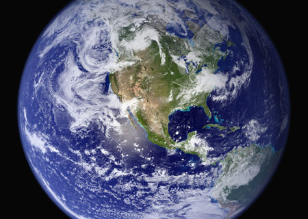 NASA, North America from Space, Full Earth View from Space, n.d.