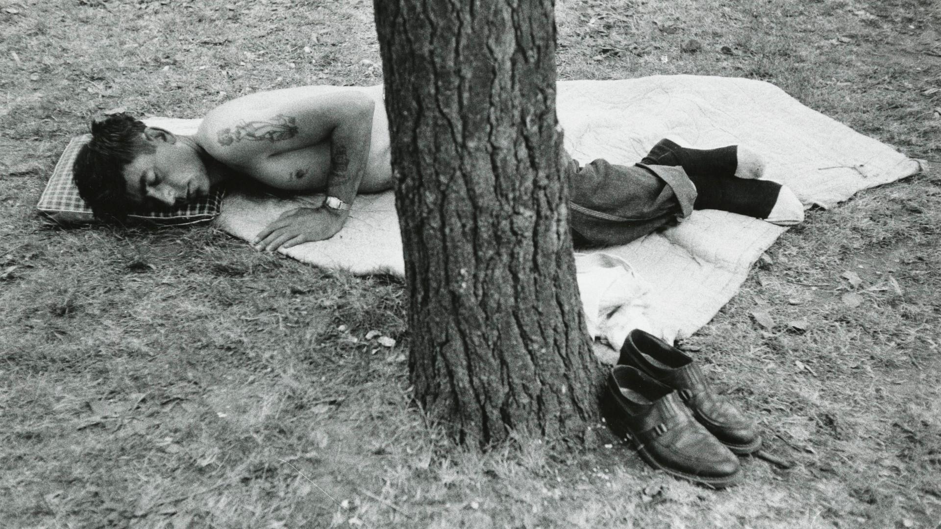 Robert Frank, Public park - Cleveland, Ohio, 1955