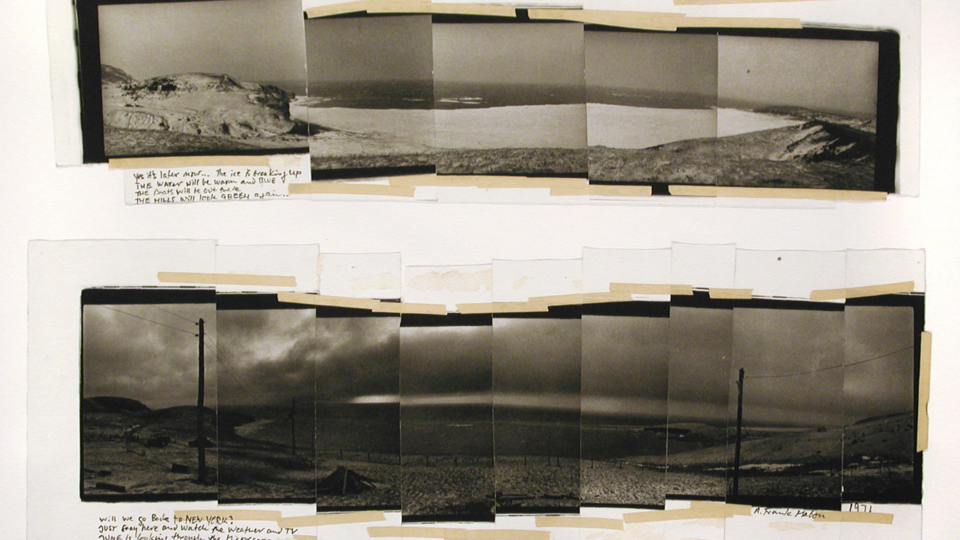 Robert Frank, A Monument to Electricity and Photography, Mabou, c. 1970s
