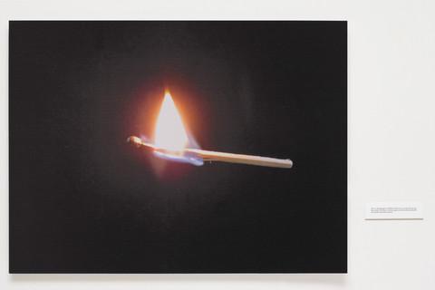 Robert Whitman, Burning Match, 2015