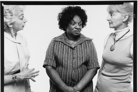 Richard Avedon, Anne Schwerner, Fannie Lee Chaney and Carolyn Goodmann, mothers of slain civil rights workers, New York, July 15, 1975