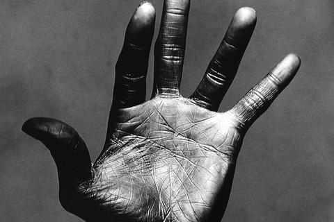 Irving Penn, The Palm of Miles Davis, New York, 1986