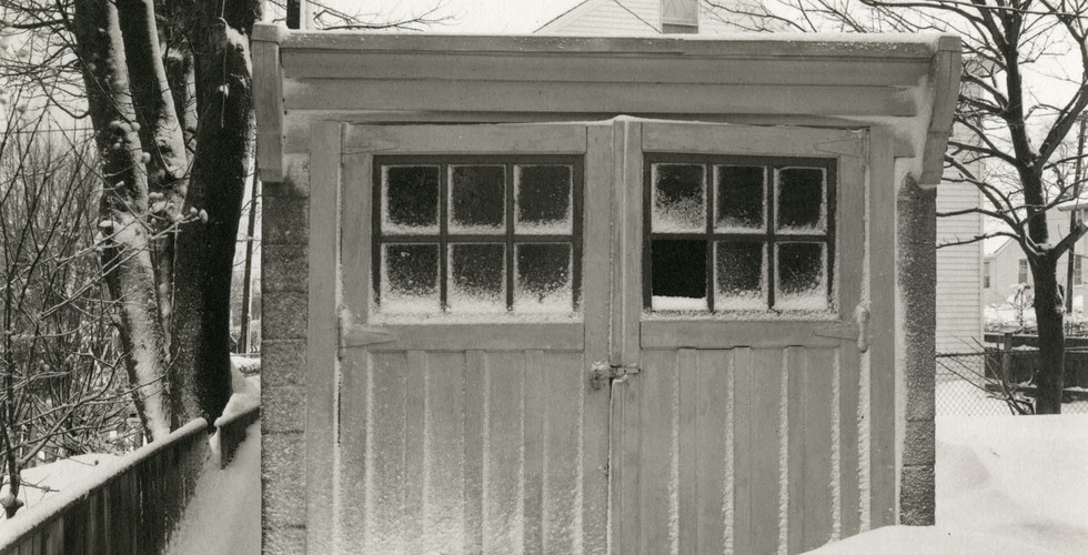 Richard Benson, Garage on Appleby Street, Newport, RI, c. 1976