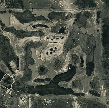 Emmet Gowin, Golf Course Under Construction, Arizona, 1993