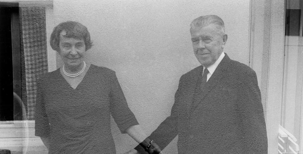 Duane Michals, Rene and Georgette (Multiple Exposure), 1965