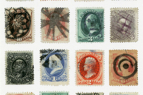 Richard Benson, sixteen various large banknote stamps with fancy cancels, 2013