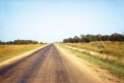 William Eggleston, Untitled (Country Road, Horizon), 1970-74