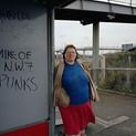 Paul Graham, Woman at Bus Stop, Mill Hill, North London, November, 1982