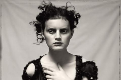 Paolo Roversi, Guinevere in black dress, Paris, 1996